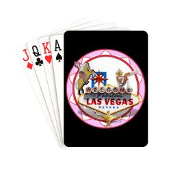 "LasVegasIcons Poker Chip - Pink on Black Playing Cards 2.5""x3.5"""