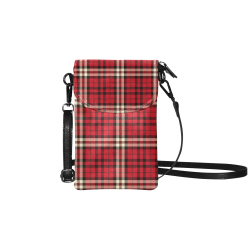 stripe red Small Cell Phone Purse (Model 1711)