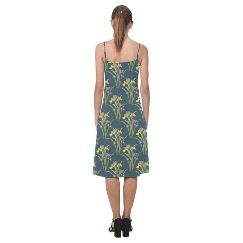 Yellow irises Alcestis Slip Dress (Model D05)