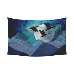 """Night In The Mountains Cotton Linen Wall Tapestry 90""""x 60"""""""