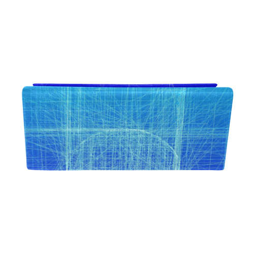 Frosty Blue Retro Glitch Custom Foldable Glasses Case