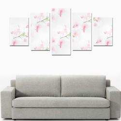 Pattern Orchidées Canvas Print Sets D (No Frame)
