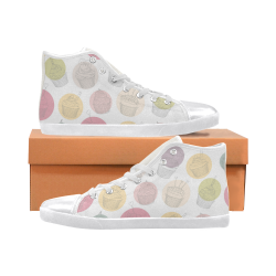 Colorful Cupcakes Women's High Top Canvas Shoes (Model 002)