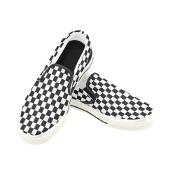 Chequered Ska Punk 2Tone by ArtformDesigns Men's Slip-on Canvas Shoes (Model 019)