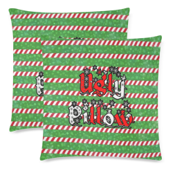 """Ugly Christmas by Nico Bielow Custom Zippered Pillow Cases 18""""x 18"""" (Twin Sides) (Set of 2)"""
