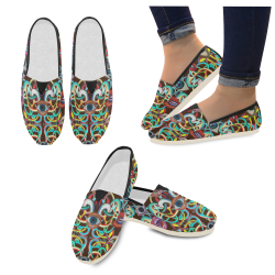 Graffiti-ojos-6 Casual Shoes for Women (Model 004)
