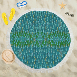 "starfall and rain Circular Beach Shawl 59""x 59"""