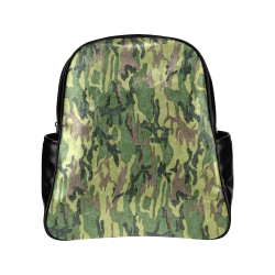 Military Camo Green Woodland Camouflage Multi-Pockets Backpack (Model 1636)