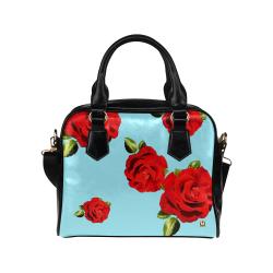 Fairlings Delight's Floral Luxury Collection- Red Rose Shoulder Handbag 53086h14 Shoulder Handbag (Model 1634)