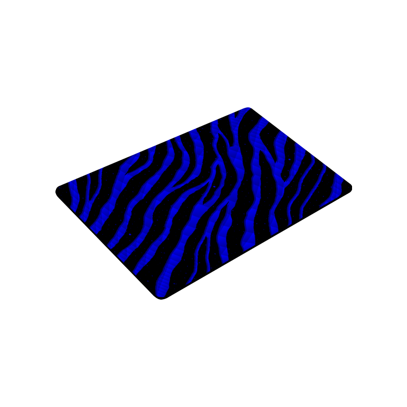 "Ripped SpaceTime Stripes - Blue Doormat 30""x18"""