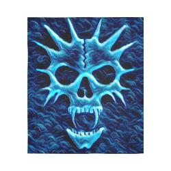 """3D Ghost Vampire Skull Black Light Horror Cotton Linen Wall Tapestry 51""""x 60"""""""