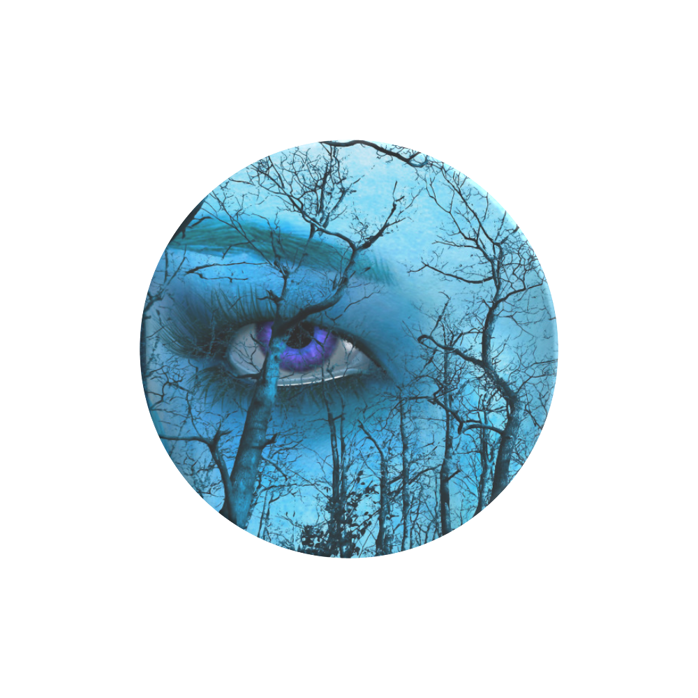 Dark Forest With Looking Eyes In Blue Violet Color Air Smart Phone Holder