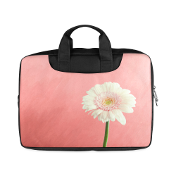 "Gerbera Daisy - White Flower on Coral Pink Macbook Air 15""(Twin sides)"