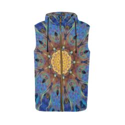 Energy mandala All Over Print Sleeveless Zip Up Hoodie for Men (Model H16)