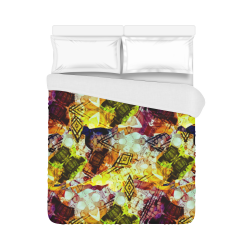 """Graffiti Style - Markings on Watercolors Duvet Cover 86""""x70"""" ( All-over-print)"""
