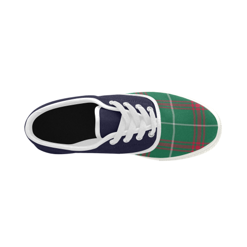 Welsh National Tartan Aries Men's Canvas Shoes (Model 029)