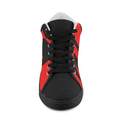 black ivolve in red Women's Chukka Canvas Shoes (Model 003)