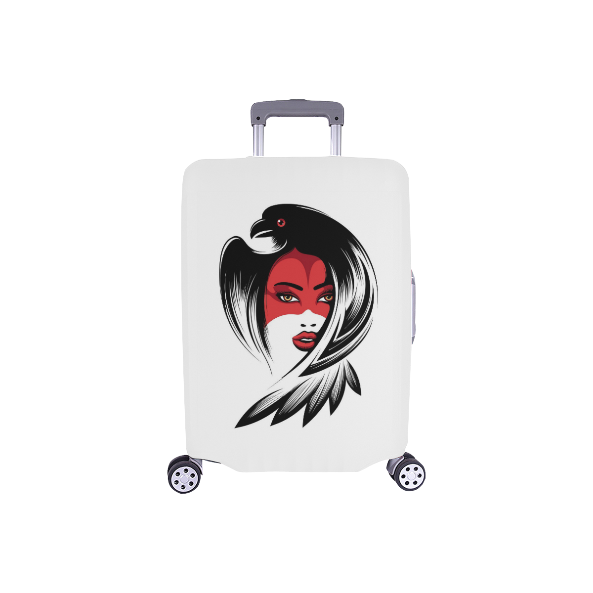 "Raven Lady Luggage Cover/Small 18""-21"""