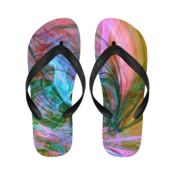 Fractal Art z19 Flip Flops for Men/Women (Model 040)