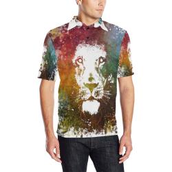 lion jbjart #lion Men's All Over Print Polo Shirt (Model T55)