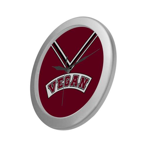 Vegan Cheerleader Silver Color Wall Clock