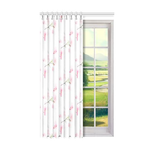 "Pattern Orchidées Window Curtain 50"" x 84""(One Piece)"