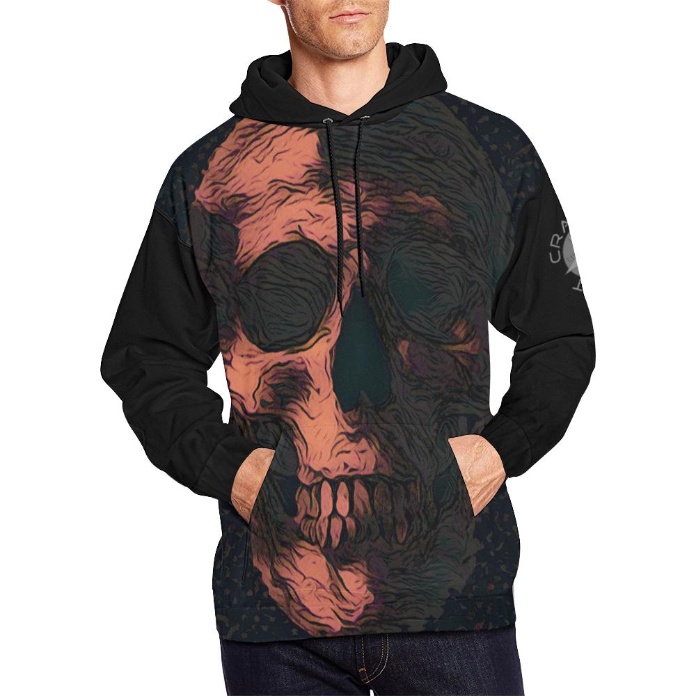 SKULL ART CRASSCO All Over Print Hoodie for Men/Large Size (USA Size) (Model H13)