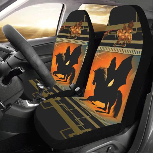 Unicorn silhouette Car Seat Covers (Set of 2)