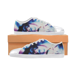 Abstract Photographic Drawing Women's Canvas Shoes (Model 016)