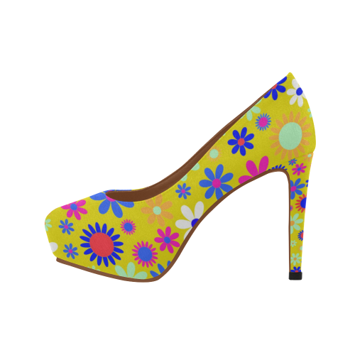 FLORAL DESIGN 5 Women's High Heels (Model 044)