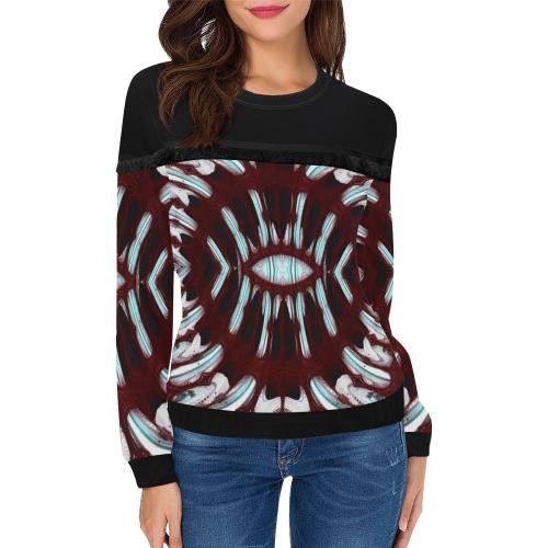 8000  EKPAH 6 low sml Women's Fringe Detail Sweatshirt (Model H28)