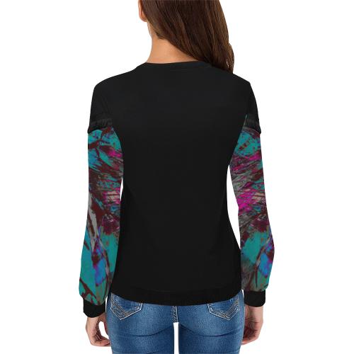 wheelVibe2_8500 44 low Women's Fringe Detail Sweatshirt (Model H28)
