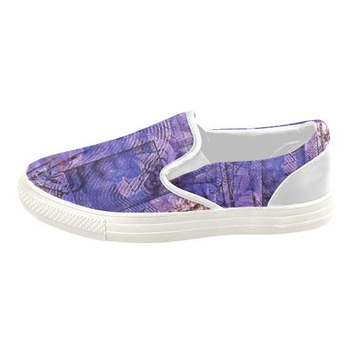 Garden Gate Women's Slip-on Canvas Shoes (Model 019)