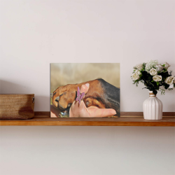 """Dog Mans Best Friend Photo Panel for Tabletop Display 8""""x6"""""""