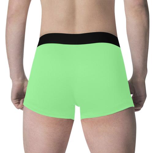 color pale green Men's All Over Print Boxer Briefs (Model L34)