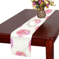 Pink Tea Roses Table Runner 14x72 inch
