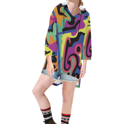 L4G Tunic Hoodie Step Hem Tunic Hoodie for Women (Model H25)