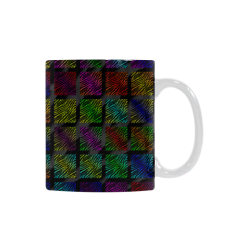 Ripped SpaceTime Stripes Collection White Mug(11OZ)