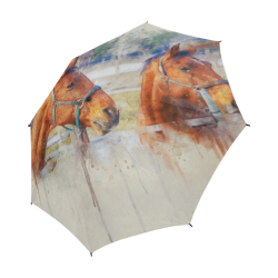 horses Semi-Automatic Foldable Umbrella (Model U05)