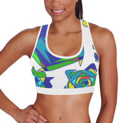 Abstract #3 2020 Women's All Over Print Sports Bra (Model T52)