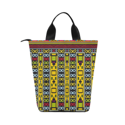 Shapes rows Nylon Lunch Tote Bag (Model 1670)