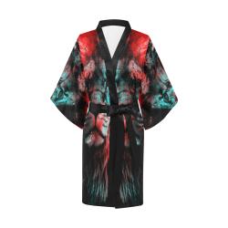 lion jbjart #lion Kimono Robe