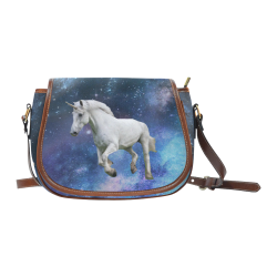 Unicorn and Space Saddle Bag/Large (Model 1649)