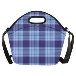 STRIPES LIGHT BLUE Neoprene Lunch Bag/Large (Model 1669)