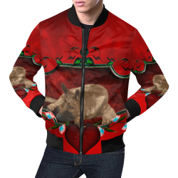 Wonderful german shepherd All Over Print Bomber Jacket for Men (Model H19)