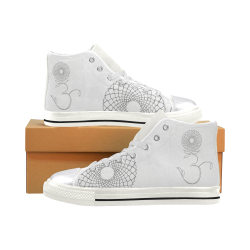 screen crown Women's Classic High Top Canvas Shoes (Model 017)