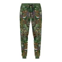 Skull camouflage by Nico Bielow Men's All Over Print Sweatpants (Model L11)