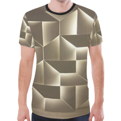 geometric gold New All Over Print T-shirt for Men (Model T45)
