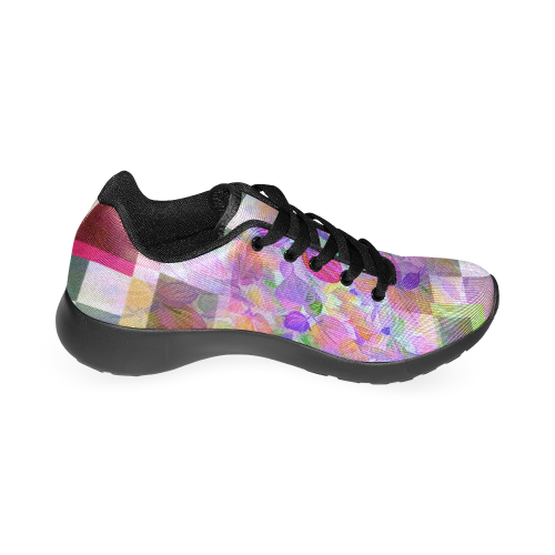 Foliage Patchwork #10 Pink by Jera Nour Women's Running Shoes/Large Size (Model 020)