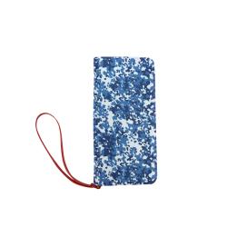 Digital Blue Camouflage Women's Clutch Wallet (Model 1637)